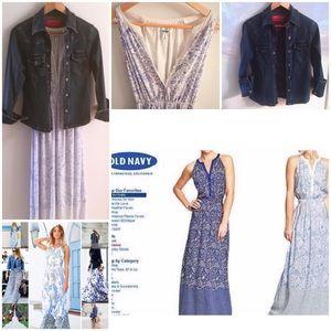 Dresses & Skirts - Maxi Dress & Denim Jacket Outfit - Both Pieces